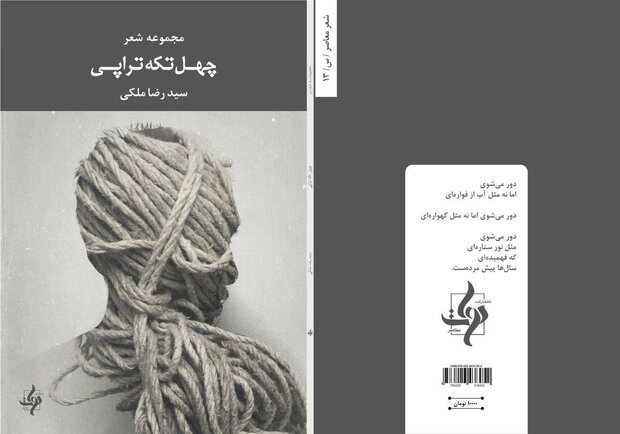 مجموعه شعر «چهل تکه تراپی» سروده سیدرضا ملکی منتشر شد